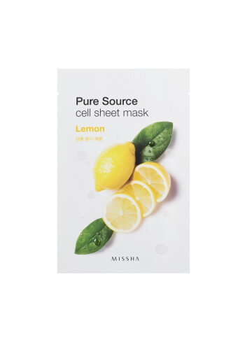PURE SOURCE CELL SHEET MASK (LEMON)