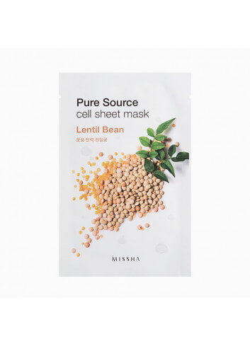 MISSHA Pure Source Cell Sheet Mask (Lentils)